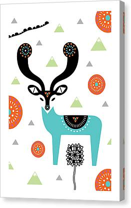 Deery Mountain Canvas Print by Susan Claire