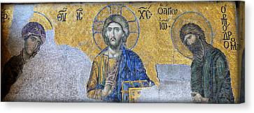 Deesis Mosaic -- Hagia Sophia Canvas Print by Stephen Stookey