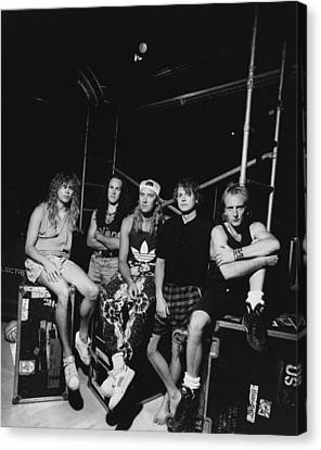Def Leppard - Adrenalize Tour B&w 1992 Canvas Print by Epic Rights