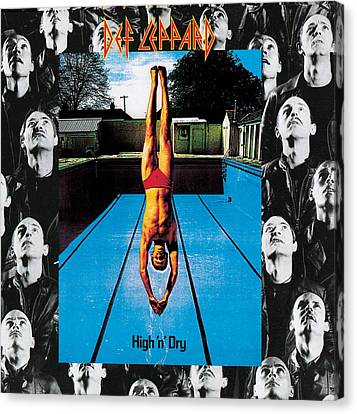 Def Leppard - High 'n' Dry 1981 Canvas Print by Epic Rights