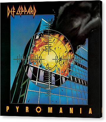 Def Leppard - Pyromania 1983 Canvas Print by Epic Rights