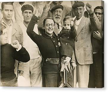 Defeated Spanish Republican Refugees Canvas Print