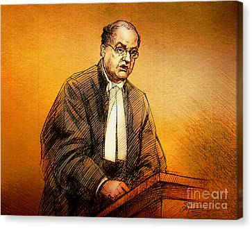 Defence Lawyer Robert Richardson At Richard Kachkar Trial Canvas Print