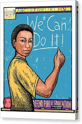 Defend Public Education Canvas Print