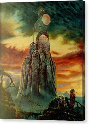 Defenders Of Rocky Desert Canvas Print by Henryk Gorecki