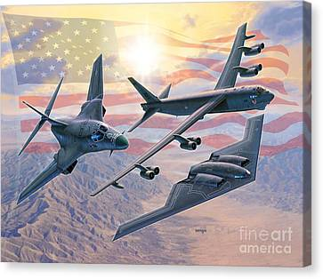 Defending Freedom Canvas Print by Stu Shepherd