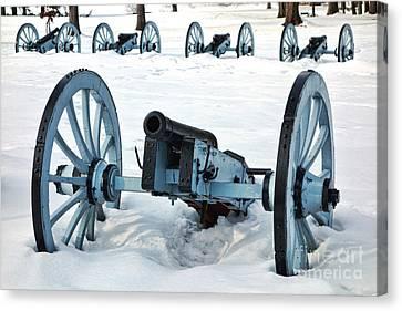 Artillery Canvas Print - Defense by Olivier Le Queinec