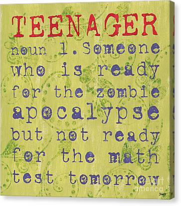 Definition Of Teenagers Canvas Print by Debbie DeWitt