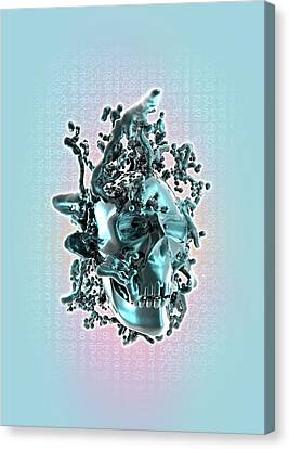 Deformed Human Skull Canvas Print by Victor Habbick Visions