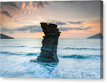 Defying The Elements Canvas Print by Christos Andronis