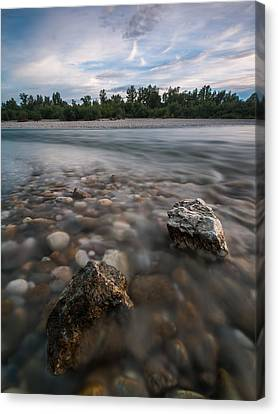 Defying The Flow Canvas Print by Davorin Mance