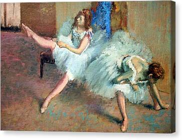 Degas' Before The Ballet Up Close Canvas Print