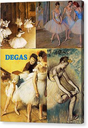 Degas Collage Canvas Print by Philip Ralley