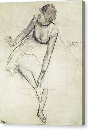 Degas, Edgar 1834-1917. A Dancer Canvas Print by Everett