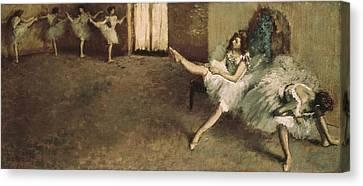 Degas, Edgar 1834-1917. Before Canvas Print