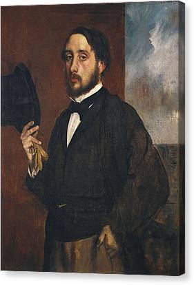Degas, Edgar 1834-1917. Self-portrait Canvas Print by Everett