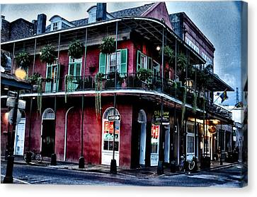 Deja Vu - Bourbon Street Canvas Print by Bill Cannon