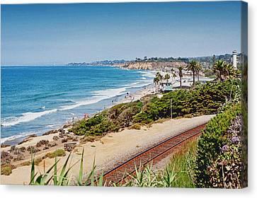 Del Mar Beach California Canvas Print by Susan Schmitz