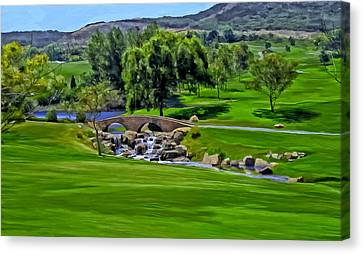 Canvas Print featuring the painting Del Mar Country Club by Michael Pickett