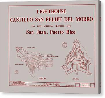 Castillo San Felipe Canvas Print - Del Morro Lighthouse - San Juan Puerto Rico by Mountain Dreams