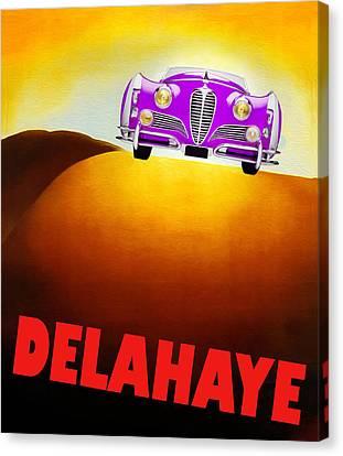 Delahaye Auto Poster II Canvas Print