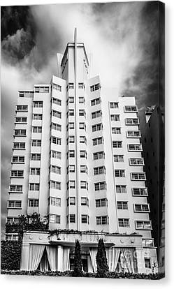 Delano Hotel - South Beach - Miami - Florida - Black And White Canvas Print by Ian Monk