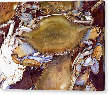 Blue Claw Crab Canvas Print - Delaware Crabs by Patti Bishop