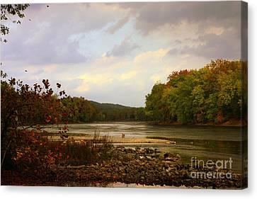 Cliff Lee Canvas Print - Delaware River by Marcia Lee Jones