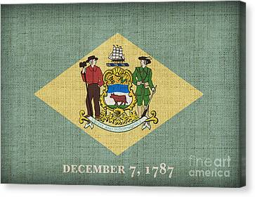 Delaware State Flag Canvas Print by Pixel Chimp
