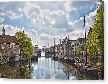 Canvas Print featuring the photograph Delfshaven Rotterdam by Frans Blok