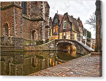Delft Behind The Church Canvas Print