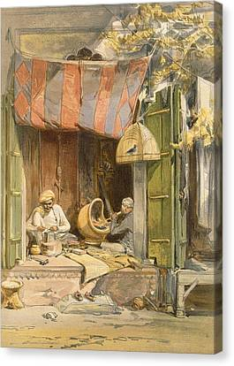Birdcage Canvas Print - Delhi - Jeweller, From India Ancient by William 'Crimea' Simpson