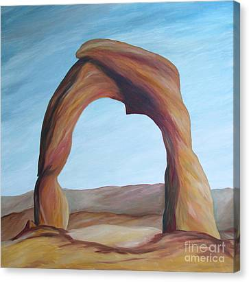 Canvas Print featuring the painting Delicate Arch IIi by Christiane Schulze Art And Photography