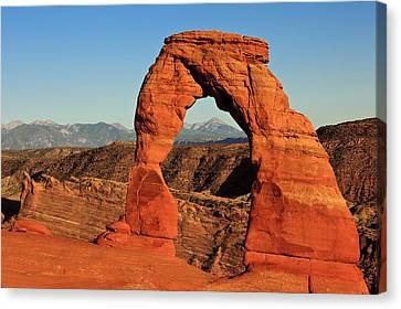 Delicate Arch Canvas Print by Karma Boyer