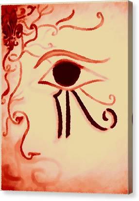 Delicate Eye Of Horus Canvas Print by Marian Hebert