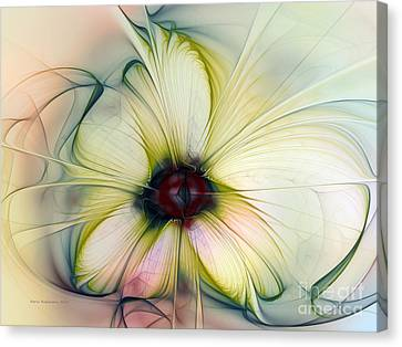Delicate Flower Dream In Creme Canvas Print by Karin Kuhlmann