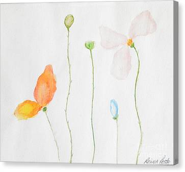 Canvas Print featuring the painting Delicate  by Reina Resto
