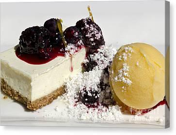 Delicious Dessert Canvas Print by Sheldon Kralstein