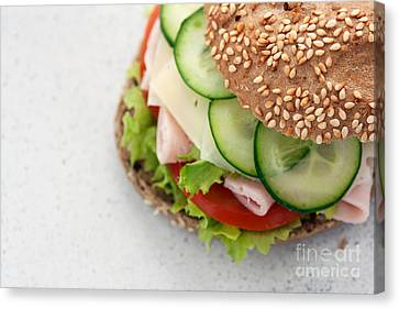 Delicious Sandwich Canvas Print by Mythja  Photography