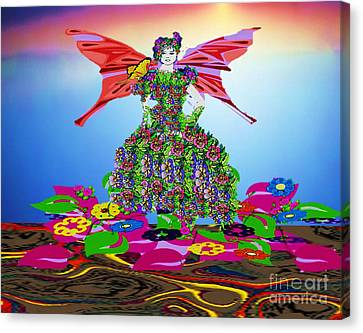 Delightful Bed Of Flowers Canvas Print by Belinda Threeths