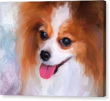 Delightful Papillon Canvas Print