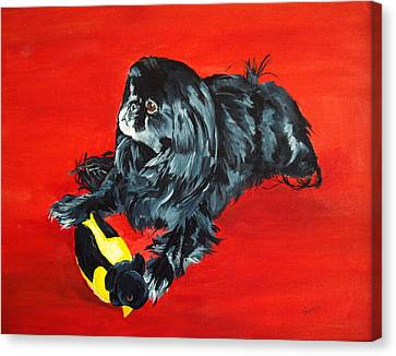 Canvas Print featuring the painting Delilah by Ellen Canfield