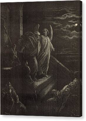 Deliverence Of St. Peter Canvas Print by Antique Engravings