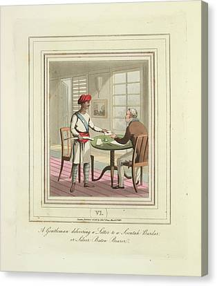 Delivering A Letter Canvas Print by British Library