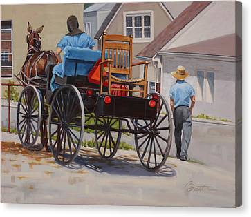 Horse And Buggy Canvas Print - Delivering The Chair by Todd Baxter