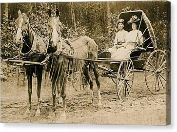 Delivering The Mail 1907 Canvas Print by Floyd Russell