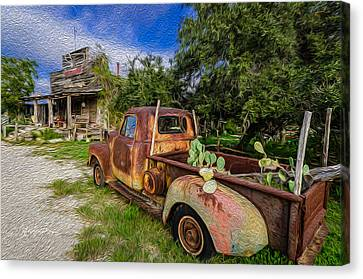 Delivery At The Stocktank Canvas Print by Jeffrey W Spencer