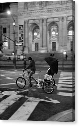Crosswalk Canvas Print - Delivery In New York City by Dan Sproul