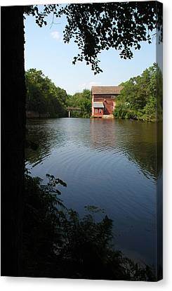 Dells Millpond No. 1 Canvas Print by Janice Adomeit
