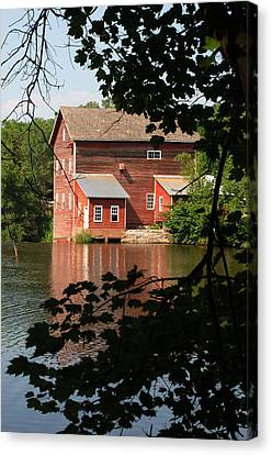 Dells Millpond No.3 Canvas Print by Janice Adomeit